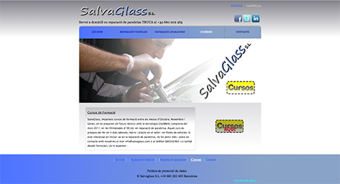 Imatge web de Salvaglass